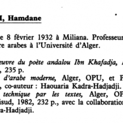 Hadjadji Haouaria Co-auteur