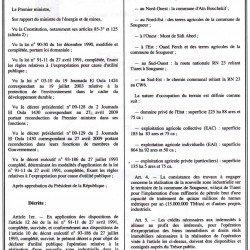 Decret exécutif :Réalisation de la raffinerie de Sougueur