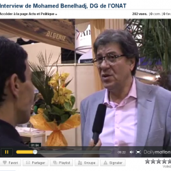 Interview de Mohamed Benelhadj, DG de l'ONT, l'Office National du Tourisme Algérien, de passage au salon du tourisme 2010 de Marseille.
