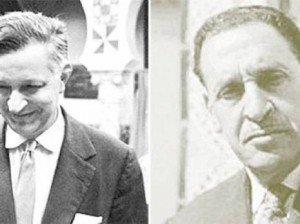 Y a-t-il un lien entre Ferhat Abbas et Jacques Chevallier ? dans Guerre d-ALGERIE Jacques-Chevallier-et-Ferhat-Abbas-300x224