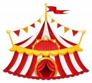 Fin de spectacle par El-Guellil dans El-Guellil tente-de-cirque-300x269