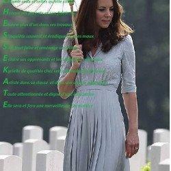 Notre duchesse Kate Acrostiche